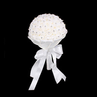 WEDDING ROSE BOUQUET WITH RHINESTONES & PEARLS