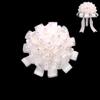 PEARL STONE ROSE WEDDING BOUQUET