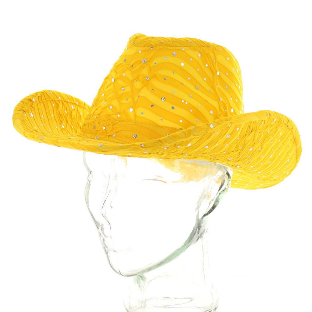 b3e7eecd85ec7 HTC590 YE Glitter Sparkle Cowboy Hat Htc590Ye - Glitter Hats