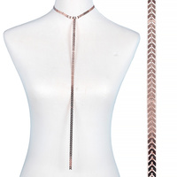 ROSE GOLD METAL T NECKLACE