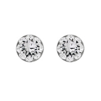 Rondelle Swarovski Crystal Post Earrings 40003Ecr