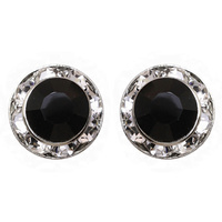 11Mm Rondelle Swarovski Crystal Post Earrings 40003Ejt