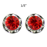 11Mm Rondelle Swarovski Crystal Post Earrings 40003Elsi