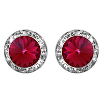 15Mm Rondelle Swarovski Crystal Post Earrings