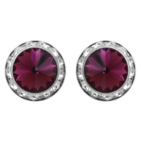 20Mm Rondelle Swarovski Crystal Post Earrings