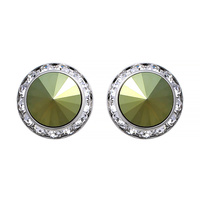 20MM Rondelle Swarovski Crystal Clip Earrings