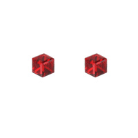 SQ 4MM ANGLED CUBE STUD EARRING