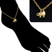 CHAIN ANKLET WITH ELEPHANT CHARM