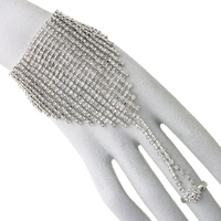 Full Hand Rhinestone Bracelet And Ring 82863Crs