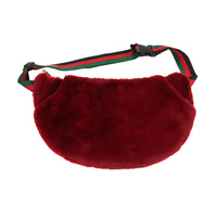 FAUX FUR FANNY PACK W/ HAND POCKETS