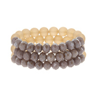 SET OF 3 BEADED STRETCH BR