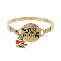 """WITCH WAY"" HALLOWEEN WIRE BRACELET"