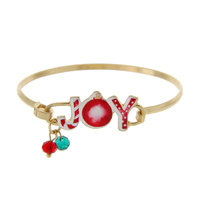 """JOY"" CHRISTMAS WIRE BRACELET"
