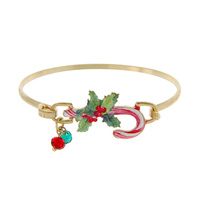 CANDY CANE CHRISTMAS WIRE BRACELET