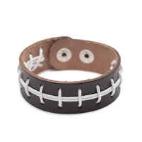 LEATHER FOOTBALL LOOK BRACELET