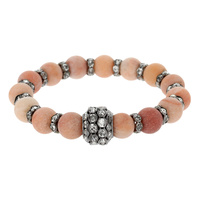 BEADED STONE AND GENUINE STONE STRETCH BR