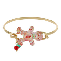 GINGERBREAD MAN CHRISTMAS WIRE BRACELET