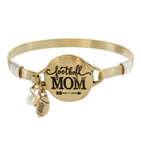 "FOOTBALL MOM"" WIRE BRACELET"