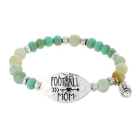 "FOOTBALL MOM"" STRETCH BRACELET"
