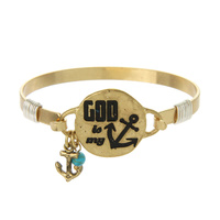 """GOD IS MY ANCHOR""WIRE BRACELET"