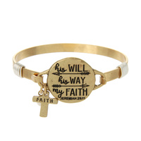 """HIS WILL. HIS WAY. MY FAITH"" WIRE BRACELET"