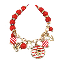 ANCHOR MULTICHARM STRETCH BRACELET