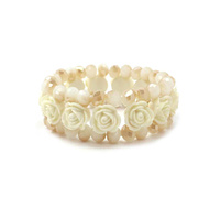 DOUBLE STRETCH BRACELET W/ FLOWERS
