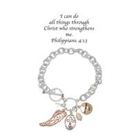 CHAIN TOOGLE BR W/ PHILIPPIANS 4:13