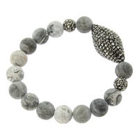 BEADED STRETCH BR W/ PAVE STONE