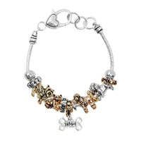 DOG THEME BEADED CHARM BRACELET