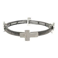 METAL STRETCH BRACELET W/ CROSS