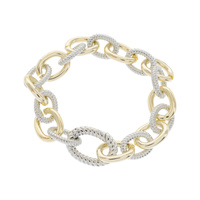 METAL 2 TONE LINKED BRACELET