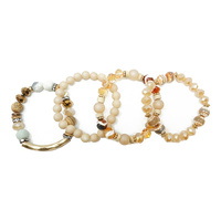 4 PC STACKABLE STRETCH BRACELET