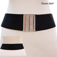 STRETCH BELT W/ RHINESTONES
