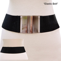 STRETCH BELT W/METAL
