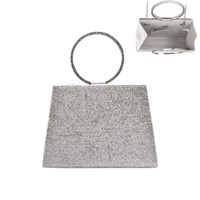 CIRCLE HANDLE BLING EVENING BAG