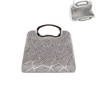 ARTSY GEOMETRIC BLING EVENING BAG