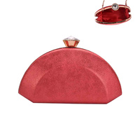 HALF MOON DIAMOND CLOSE EVENING BAG