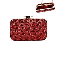 SEQUIN DIAMOND SHAPE EVENING BAG