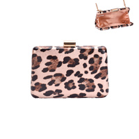 SIMPLE LEOPARD CHEETAH EVENING BAG