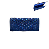 FABRIC STONE STUDDED EVENING BAG