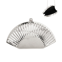 SHELL SCALLOPED METAL EVENING BAG