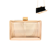 METALLIC DETAILED EVENING BAG