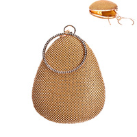 PEAR SHAPE RING HANDLE STONE BAG