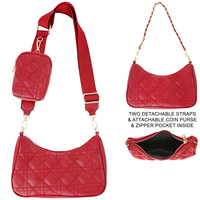 MEDIUM GLASSIC BAG WITH COIN PURSE AND ADJUSTABLE & REMOVABLE STRAPS