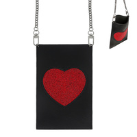 BODY CROSS BAG WITH RED HEART
