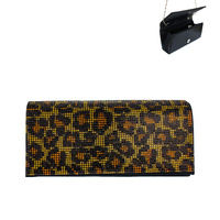 LEOPARD CHEETAH STONE EVENING BAG