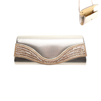 CLUTCH BAG W/DIAMONDS AND GOLD SEQUIN IN FRONT