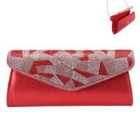 FABRIC EVENING BAG W/LOOPY GEMS