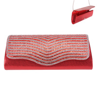 OVAL EVENING BAG W/SWIRL GEMS